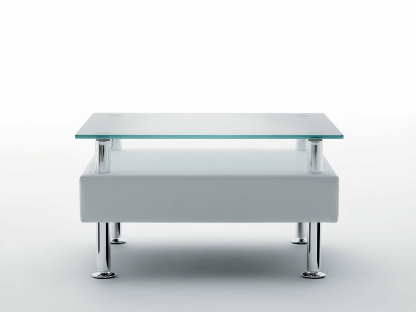 Rectangular wood and glass coffee table NAXOS ELITE | Coffee table by Ares Line