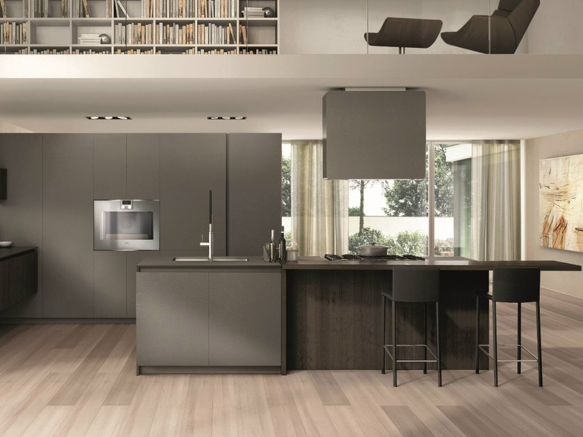 Wooden fitted kitchen FILOANTIS by Euromobil