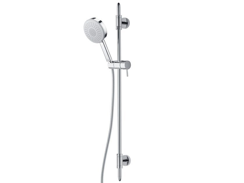 Chrome-plated shower wallbar with hand shower DINAMICA/3 SET by Bossini