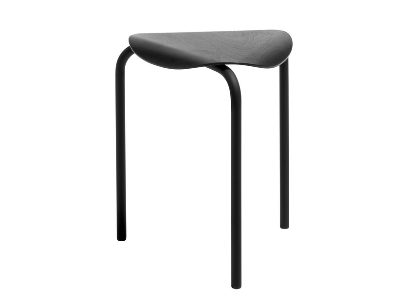Stackable beech stool LUKKI | Stool by Artek