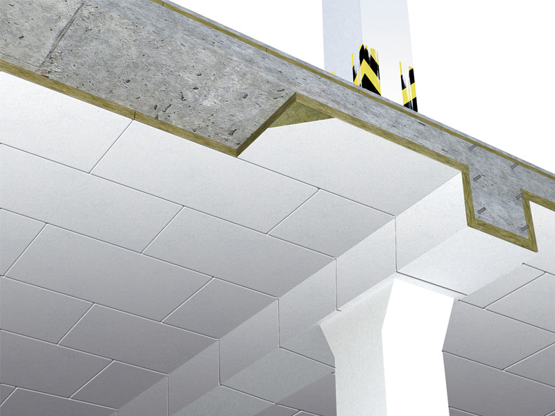 Thermal insulation panel / Sound insulation and sound absorbing panel in mineral fibre Cosmos B by Rockwool Italia