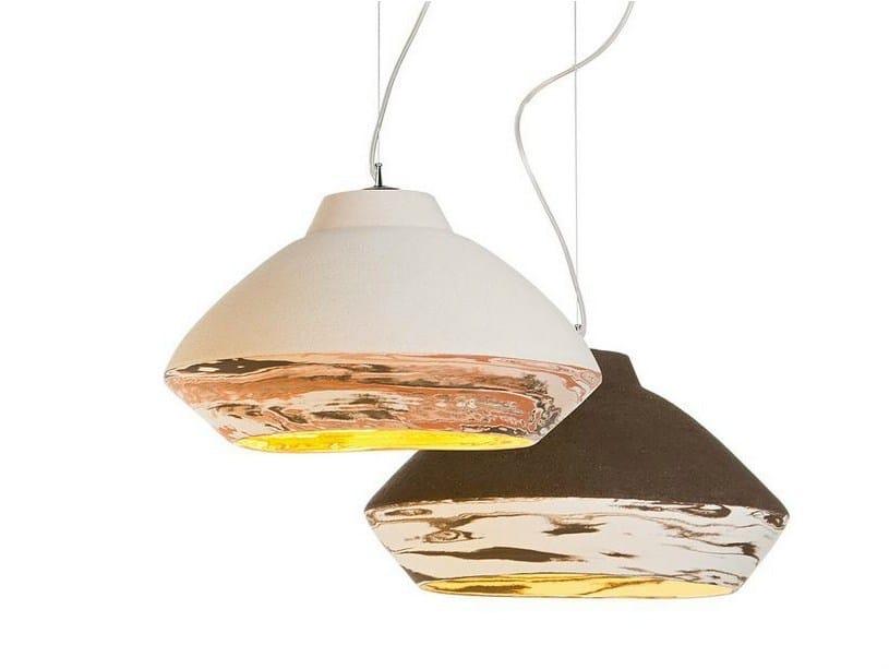 Terracotta pendant lamp MATERA by ILIDE