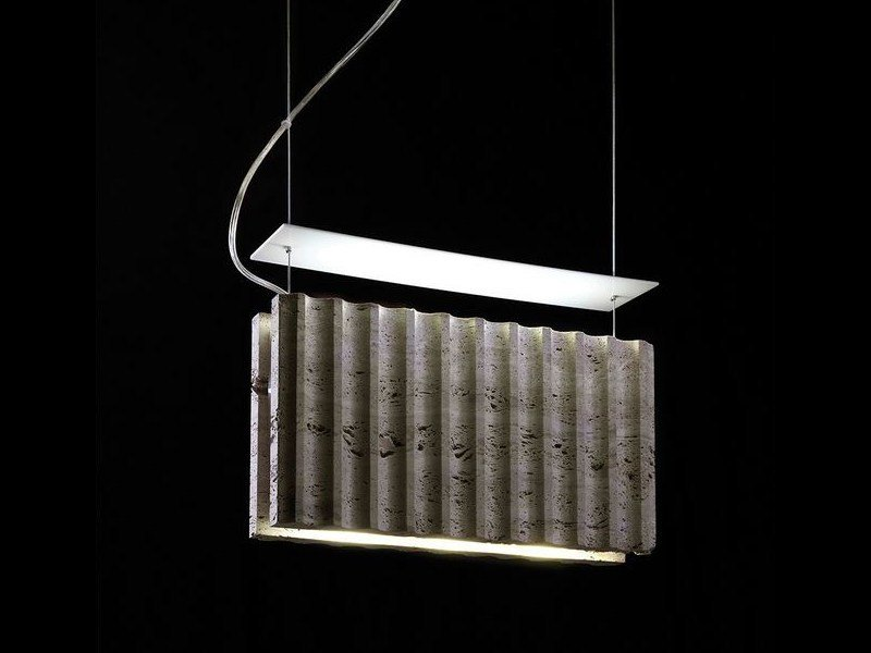 LED travertine pendant lamp ROMA | Pendant lamp by ILIDE