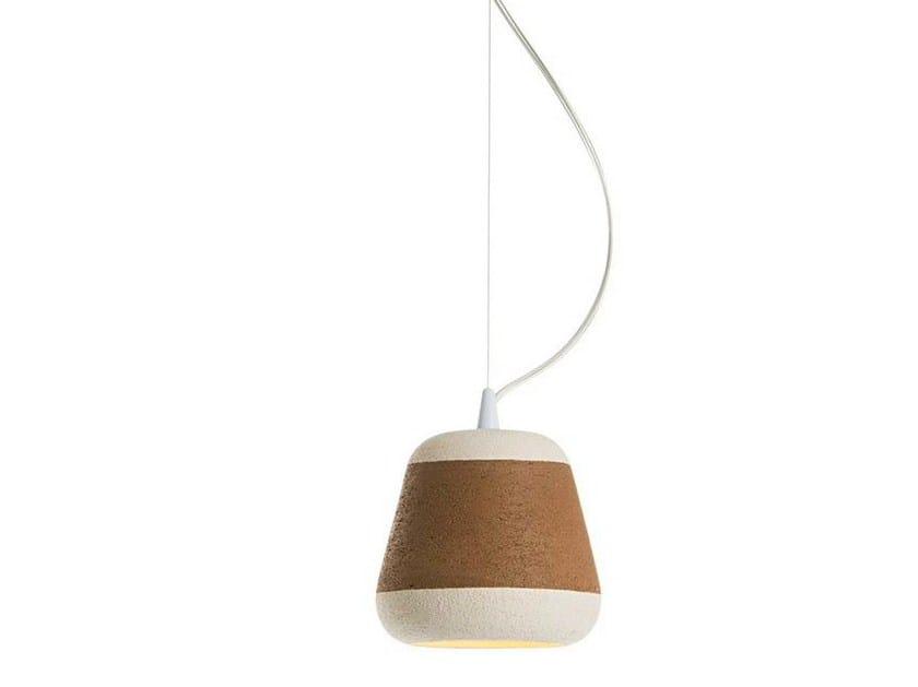 Terracotta pendant lamp OLLA by ILIDE