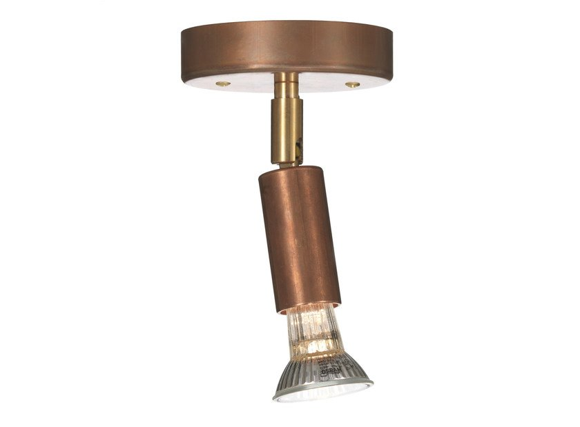 Adjustable ceiling copper spotlight STAR 1 | Copper spotlight by Örsjö Belysning