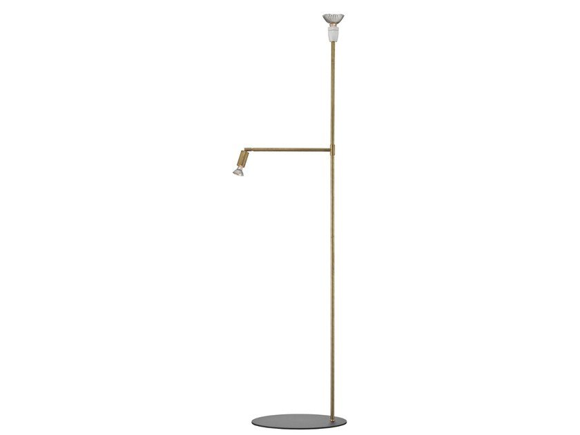 Brass floor lamp GALAX by Örsjö Belysning