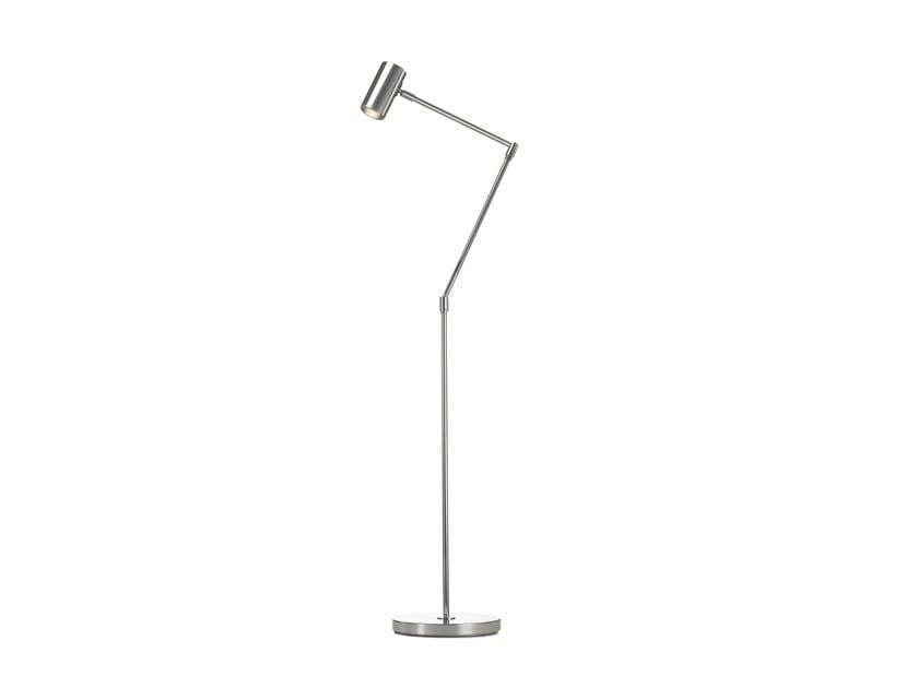 Adjustable chrome plated floor lamp MINIPOINT | Adjustable floor lamp by Örsjö Belysning