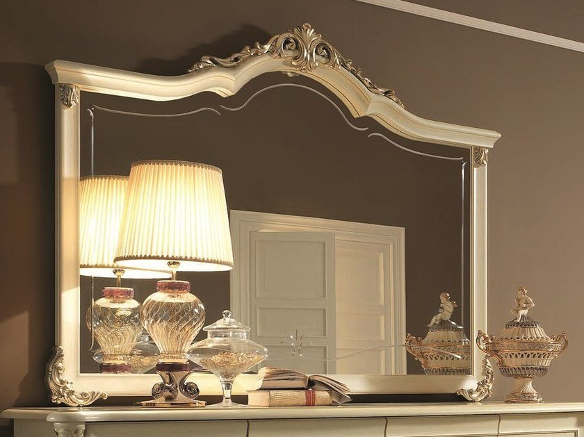 Classic style wall-mounted framed mirror TIZIANO | Mirror by Arredoclassic