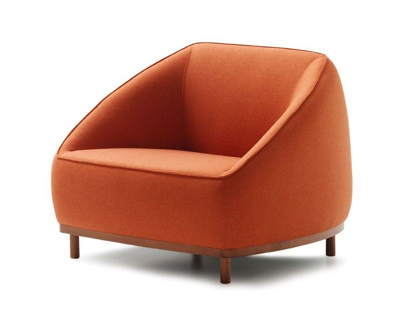 Fabric armchair with armrests SUMO | Armchair by Sancal
