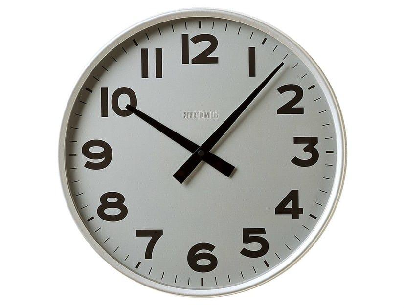 Wall-mounted aluminium clock CLASSICO by KRIPTONITE