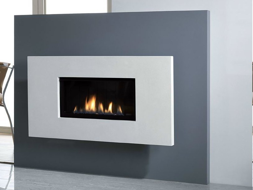 Gas fireplace OPTICA 50 by BRITISH FIRES