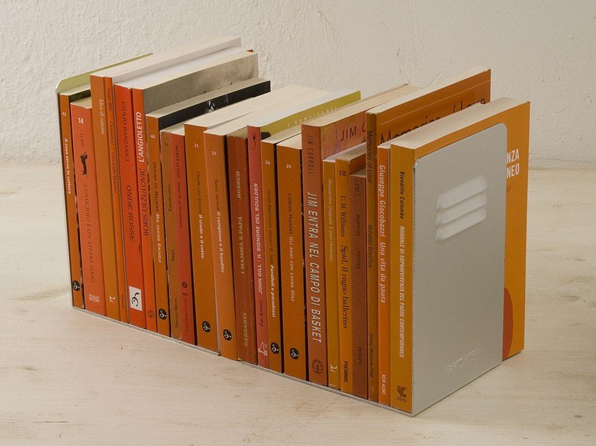 Design aluminium bookend FERMALIBRO by KRIPTONITE