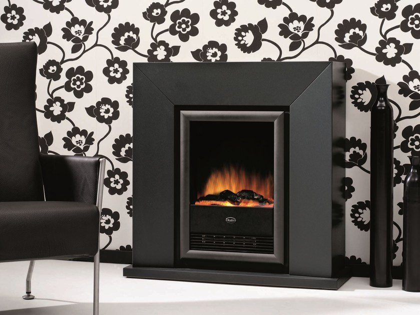 Electric wall-mounted fireplace DIABLO SUITE by BRITISH FIRES