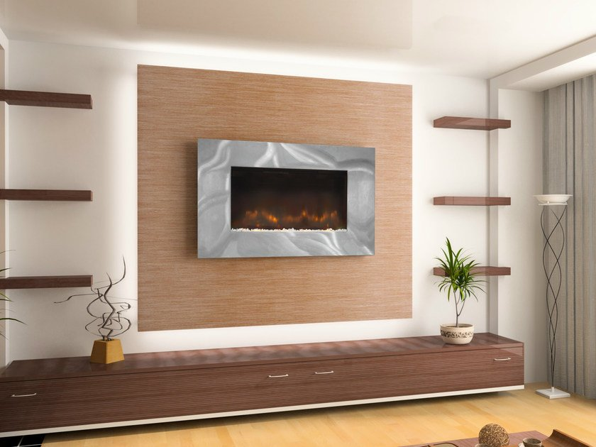 Electric wall-mounted fireplace ASHWELL by BRITISH FIRES
