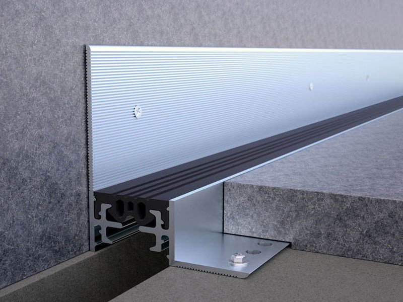 Aluminium Flooring joint NOVOJUNTA PRO® PERIMETER by EMAC Italia