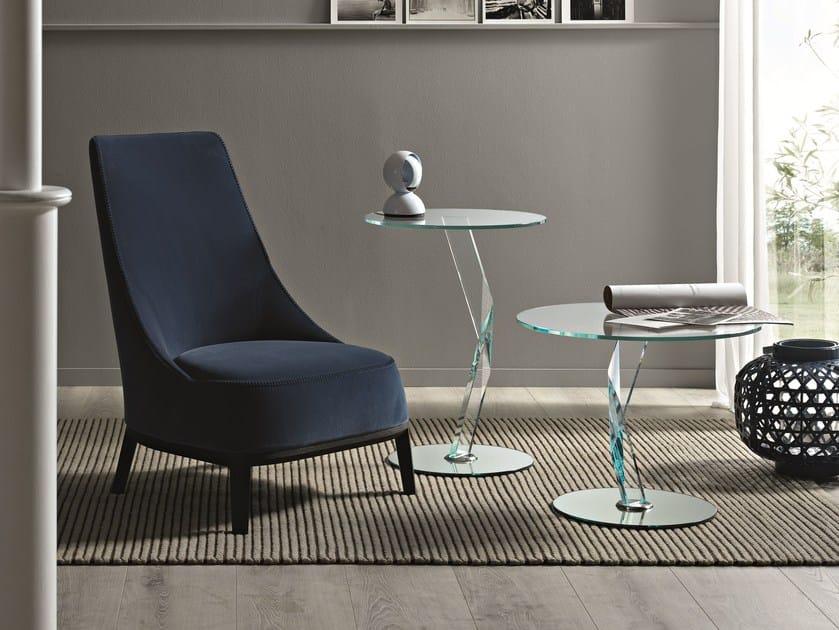 Glass coffee table BAKKARAT by Tonelli Design