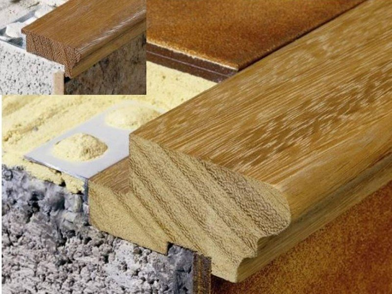 Wooden Step nosing NOVOPELDAÑO® ROMANO by EMAC Italia