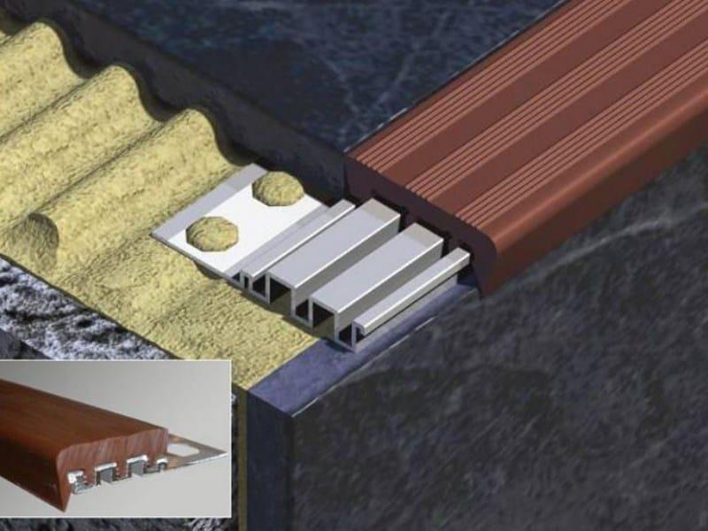 Aluminium and PVC Step nosing NOVOPELDAÑO® 1 by EMAC Italia