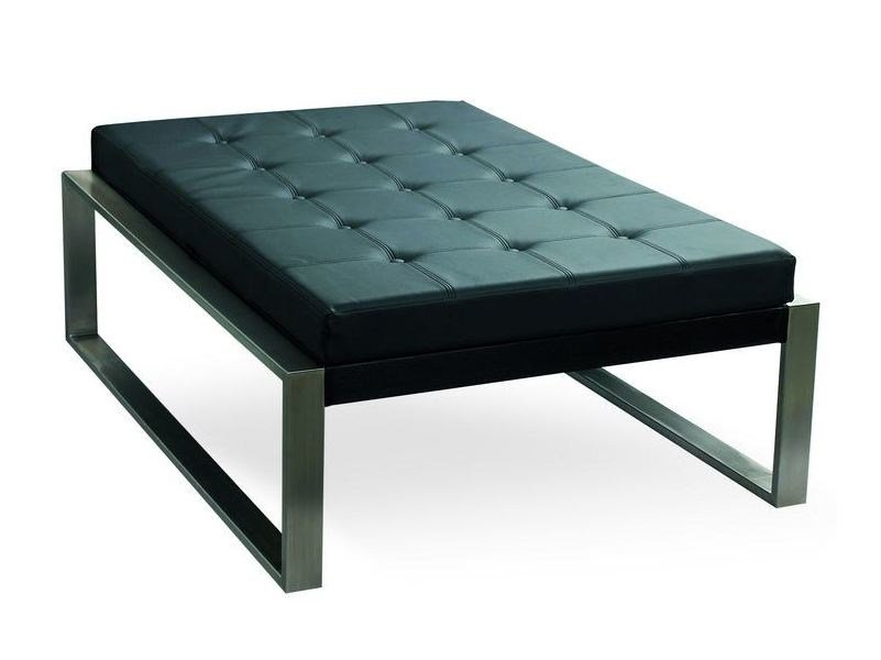 Leather footstool PIECERA 130 LOUNGE by FueraDentro