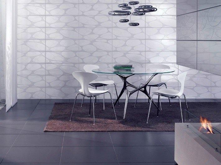 Runder Tisch aus Edelstahl und Glas E-VOLVED By FueraDentro Design ...
