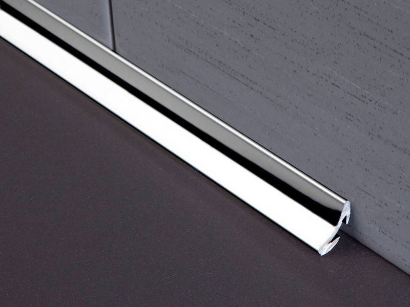 Antibacterial stainless steel edge profile for floors NOVOESCOCIA® 4 MINI | Stainless steel edge profile by EMAC Italia