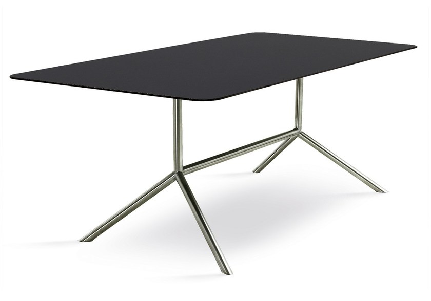 Design rectangular steel garden table SHELL DINING 200 | dining table by FueraDentro