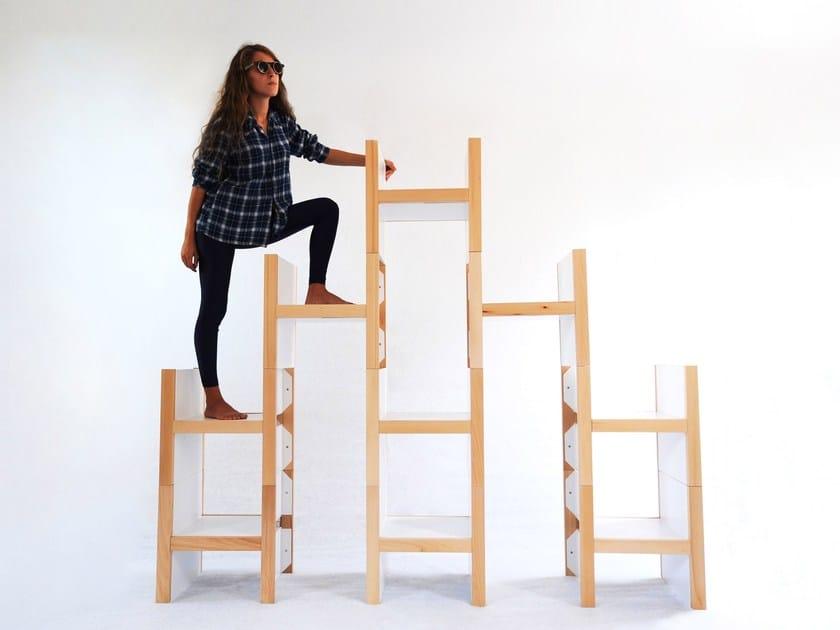 Scaffale a giorno componibile in legno acca by smarin design marco