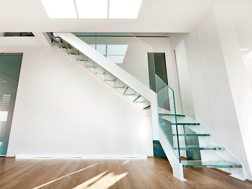 Open stairs with bands VISTA FASCIA by OFFICINE SANDRINI