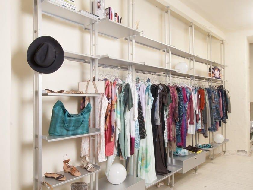 Sectional aluminium walk-in wardrobe K2 | Sectional walk-in wardrobe by KRIPTONITE