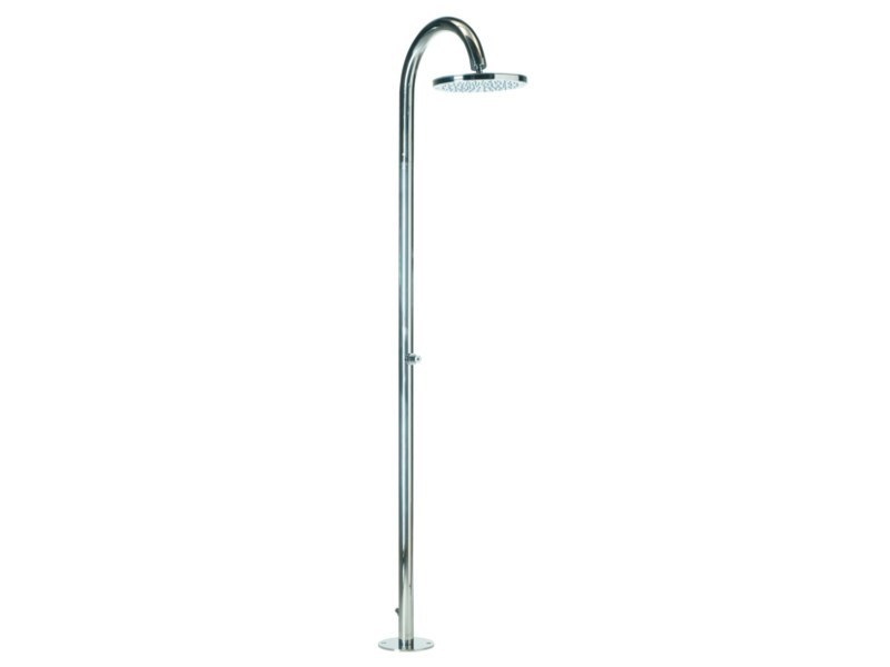 Floor standing shower panel with overhead shower OKI FLOOR by Bossini