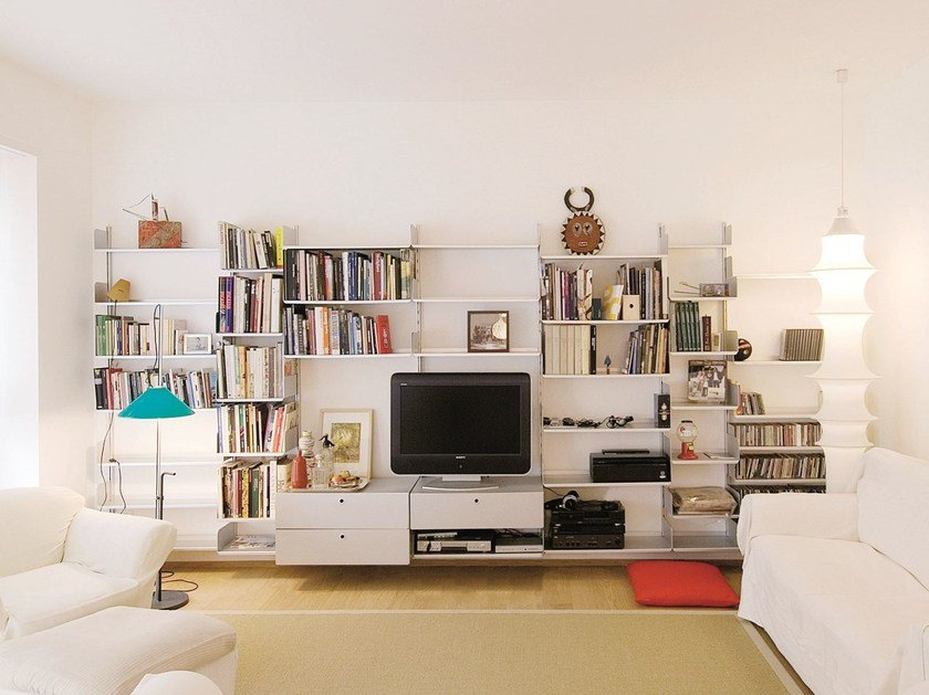 Wall-mounted sectional shelving unit K1 | Bookcase by KRIPTONITE