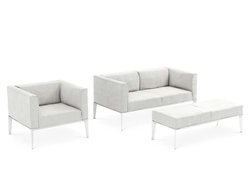 Design 2 seater leather sofa