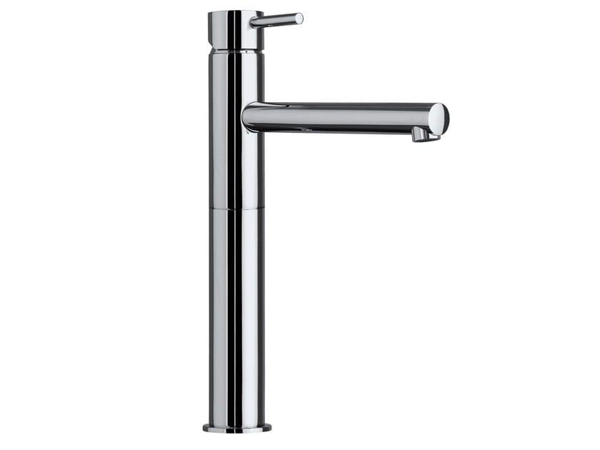 Design single handle brass washbasin mixer OKI | Countertop washbasin mixer by Bossini