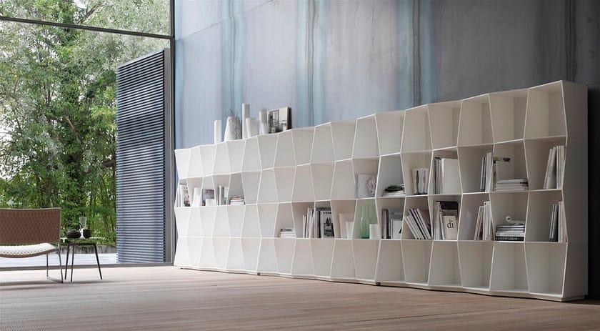 Libreria modulare in pietra acrilica wavy by alivar design giuseppe