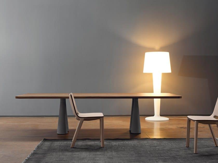 Rectangular wooden table STILL | Table by Bonaldo