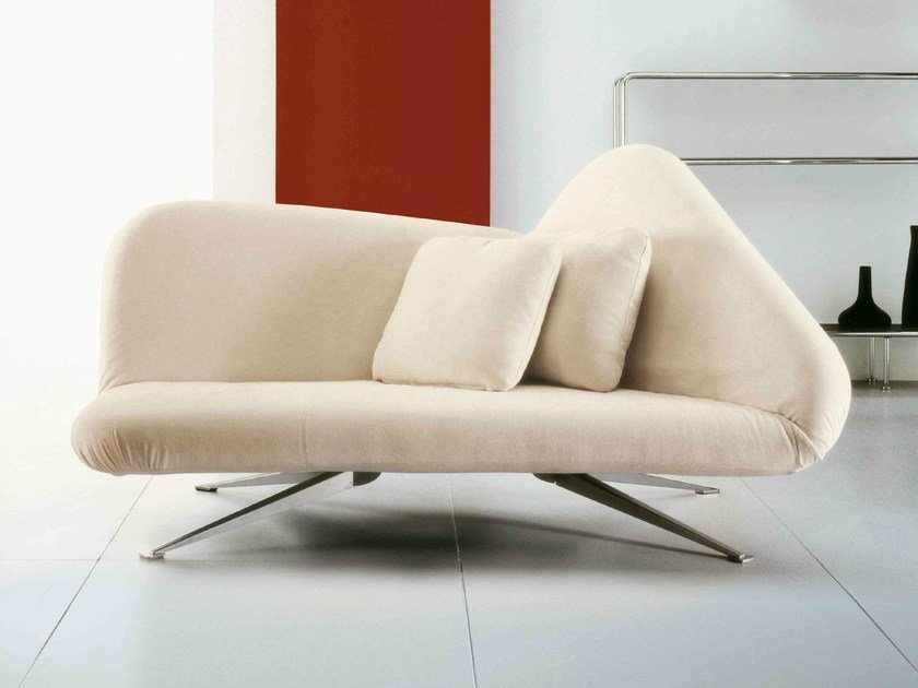 Upholstered fabric day bed PAPILLON by Bonaldo
