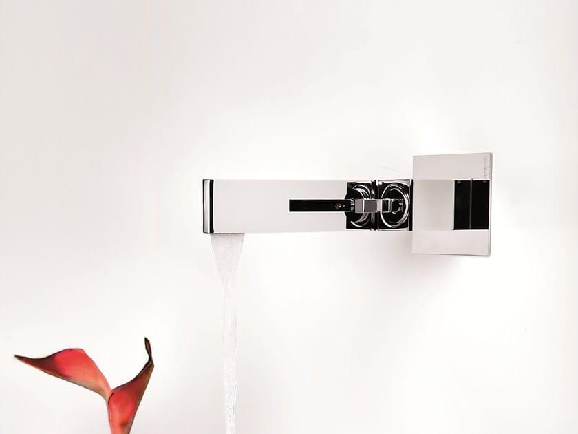 Wall-mounted chrome-plated single handle washbasin mixer TETRIS | Wall-mounted washbasin mixer by RITMONIO