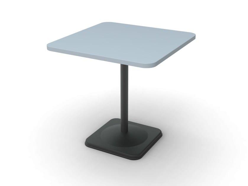 Square cast iron table BUBBLE-44 by Vela Arredamenti