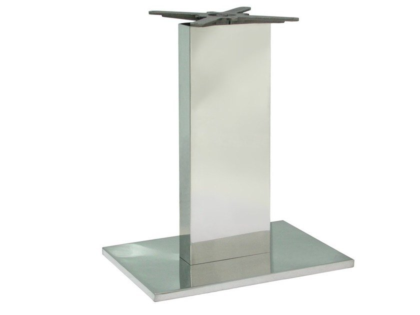 Stainless steel table base BAINOX-1 by Vela Arredamenti