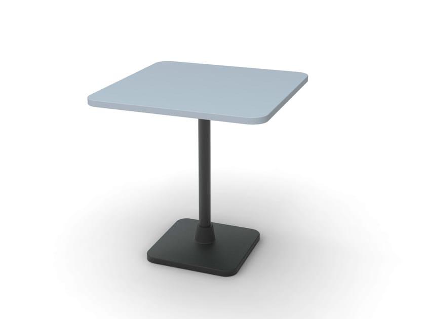 Square cast iron table PRIME-44 by Vela Arredamenti