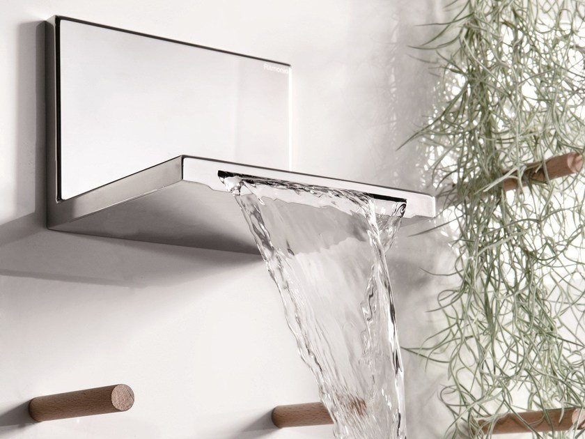 Chrome-plated wall-mounted waterfall spout WATERBLADE | Spout by RITMONIO