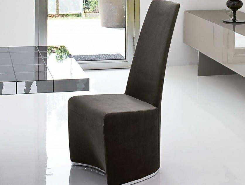 Upholstered high-back chair GLORIA by Bonaldo