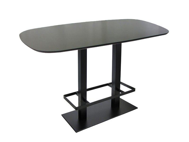 Rectangular cast iron high table SPRITZ-84-2-FF-PG by Vela Arredamenti
