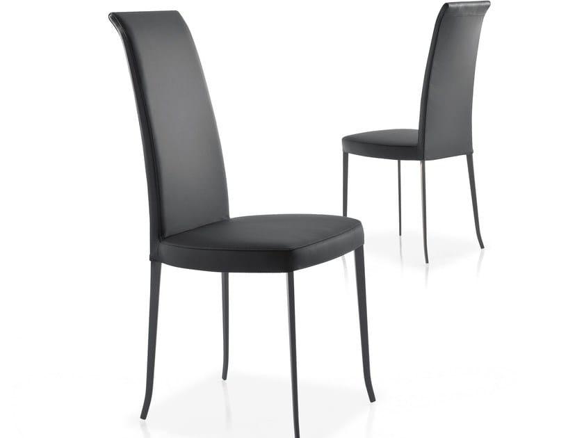 High-back upholstered chair BALLERINA by Bonaldo