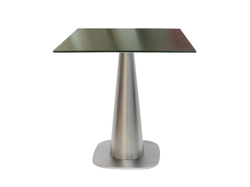 Stainless steel table RONDOCONO-43-X by Vela Arredamenti