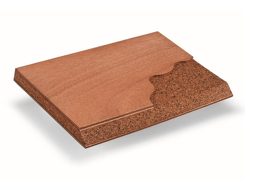 Okoumé Sound insulation and sound absorbing panel in wood and cork Larimar® SG by BELLOTTI