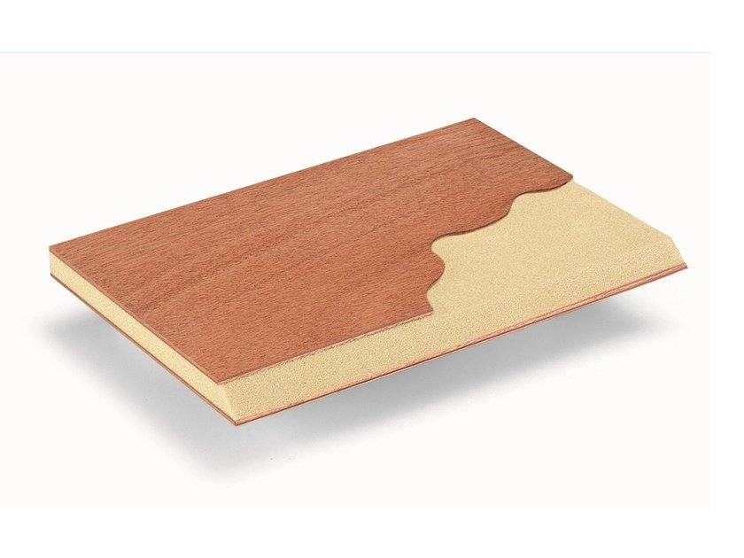 Okoumé thermal insulation panel Larimar® 60 by BELLOTTI