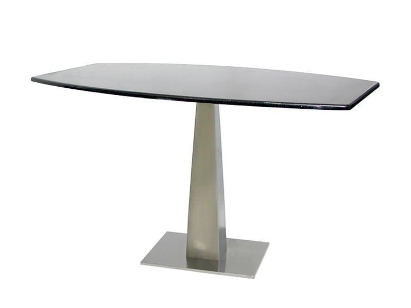 Rectangular stainless steel table SLIPIRA by Vela Arredamenti