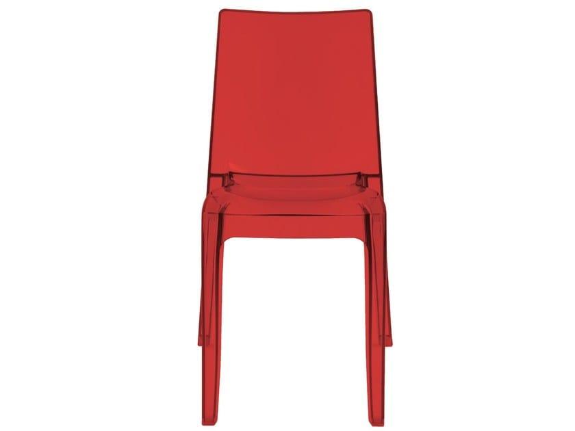 Stackable polycarbonate chair LUCE   Polycarbonate chair by Vela Arredamenti