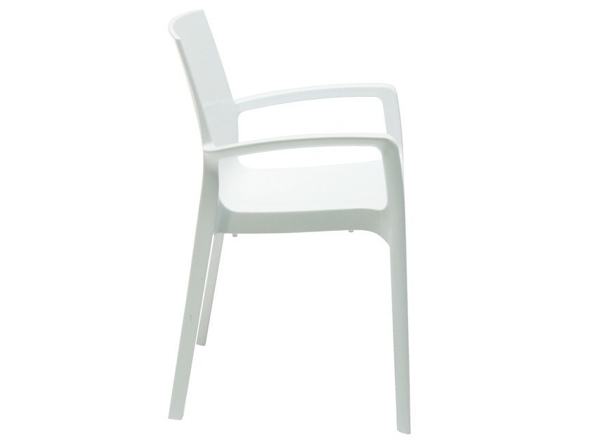 Stackable polycarbonate chair with armrests GELATO | Polycarbonate chair by Vela Arredamenti